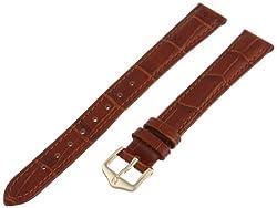 Hirsch 010280-70-14 14 -mm  Genuine Leather Alligator Embossed Watch Strap