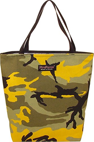 Fire Force City Cotton Tote Bag Woodland Yellow Camo