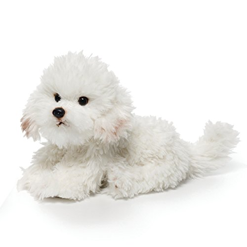 - DEMDACO Sitting Large Bichon Frise Dog Children's Plush Stuffed Animal Toy