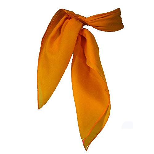 Sheer Chiffon Scarf Vintage Style Accessory for Women and Children, Orange