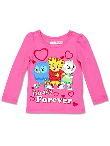 Daniel Tiger Toddler Girl's Long Sleeve Tee (4T, Light Pink) ()