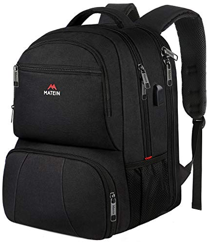 Lunch Box Backpack, 15.6 Inch Laptop Backpack for Men Women with USB Charging Port, TSA Friendly Laptop Bag Fit 15.6 in Laptops, Insulated Lunch Backpacks for College School Travel Work, Black