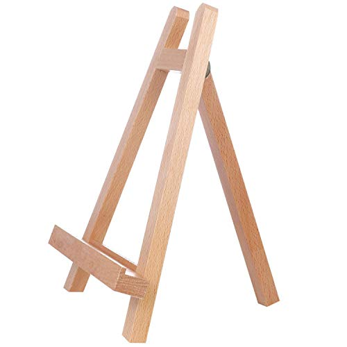 Sugars 11inch Portable Wooden Tripod Tabletop Display Small Easel for Sketching Painting Small Artist Easel Phase Frame - $9.59