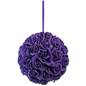 Garden Rose Kissing Ball - Purple - 10 Inch Pomander Extra Large 25