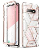 i-Blason Cosmo Series Designed for Samsung Galaxy S10 Case, Stylish Full-Body Protective Bumper Case Without Built-in Screen Protector for Galaxy S10 2019 Release (Marble)