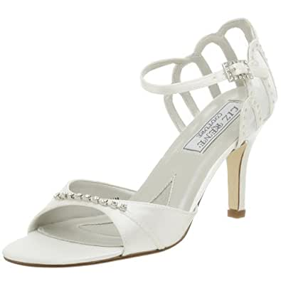 Liz Rene Couture Women's Claudia Dyeable Sandal,White,10 M