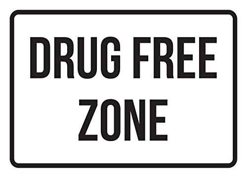 Drug Free Zone No Parking Business Safety Traffic Signs Black - 7.5x10.5 - Plastic by iCandy Products Inc