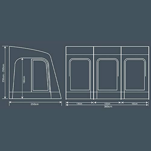 Outdoor Revolution Comp 390 Caravan Porch Awning
