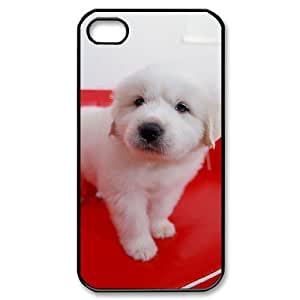 Unique Case for Iphone 4,4S - Lively dog ( WKK-R-83265 )