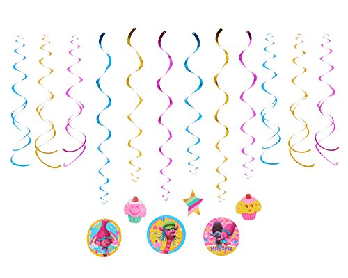 American Greetings Trolls Hanging Party Decorations