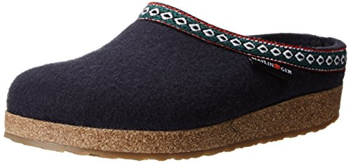 Haflinger GZ Clog,Navy,43 EU/Women's 12 M US/Men's 10 M US by Haflinger