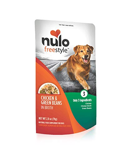Nulo Freestyle Natural Dog Food Topper, 2.8 oz. Pouch - Grain Free Real Meat Dog Treats, Case of 24 - for All Breeds of Dogs and Puppies - Supports Lean Muscle Mass and Healthy Heart