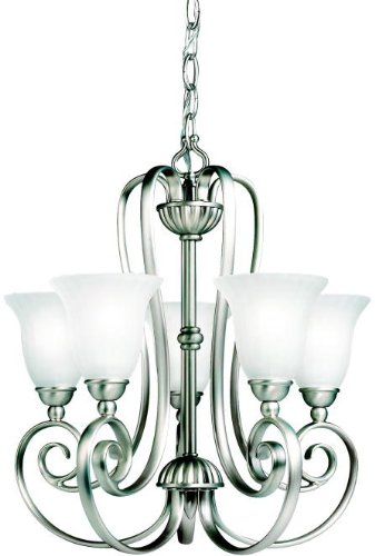 Kichler 1825NI Mini Chandelier Lighting, Brushed Nickel 5-Light (17