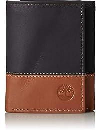 Timberland - portafolios de piel para hombre con ventana de identificación