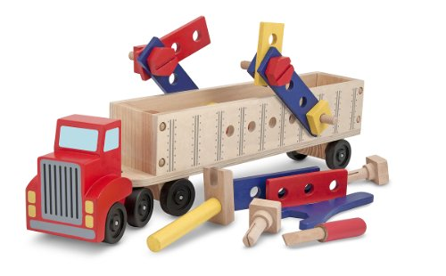 - Melissa & Doug Big Rig Truck Wooden Building Set (22 pcs)