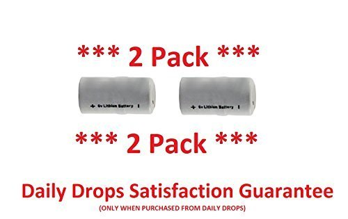 Daily Drops IMPI Power 6V Lithium Battery 2 Pack (Compatible with SPC-100 Bark Control Collar) Includes Daily Drops 1 Year Limited Warranty