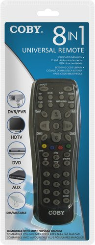 Coby CRC-02 8 in 1 Universal Remote