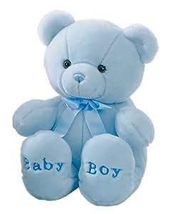 """Aurora Comfy Blue Baby Boy Bear 18"""""""