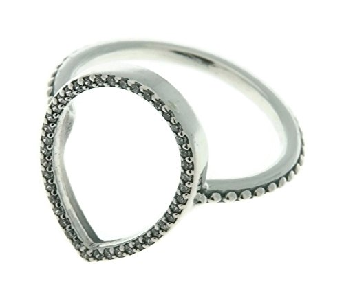 (PANDORA Teardrop Silhouette Ring, Clear CZ 196253CZ-48 EU 4.5 US)