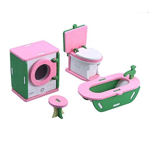 SODIAL 1 set Bebe En Bois Dollhouse Meubles Poupees Maison Miniature Enfant Jouets Jouets Cadeaux # 5