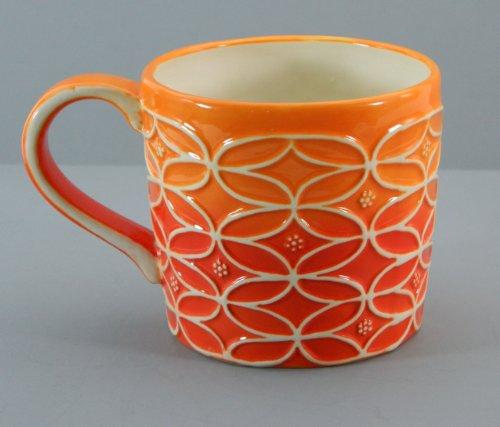 Starbucks Hand Painted Orange Ombre Relief Mug 2009 14 fl oz ()