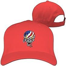 America Flag Skull Baseball Hats Cap Boys Adjustable Hat Women's