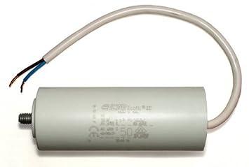 condensador de arranque condensador para motor con cable 50uF 50µF