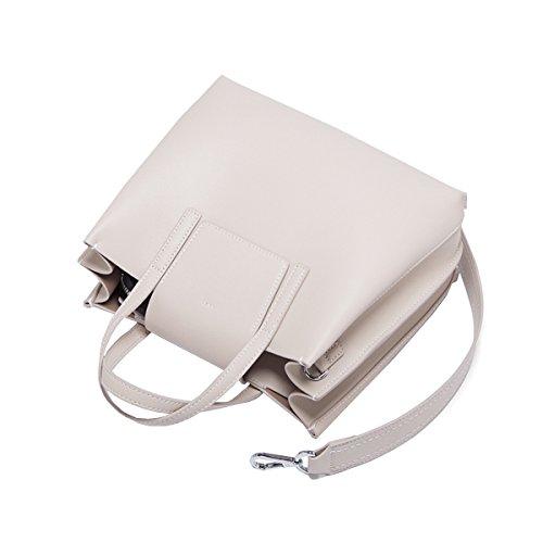 Fourre à Mode Nouveaux 2018 Bandoulière tout à Sacs Polyvalent Leather Bandoulière En Gris Sac Sac Simple Pour Main En Cuir HJLY Femmes 8xIgTT
