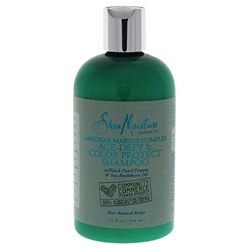 Shea Moisture Zanzibar Marine Complex Age-Defy & Color Protect Shampoo for Unisex, 13 (Color Protect Leave)