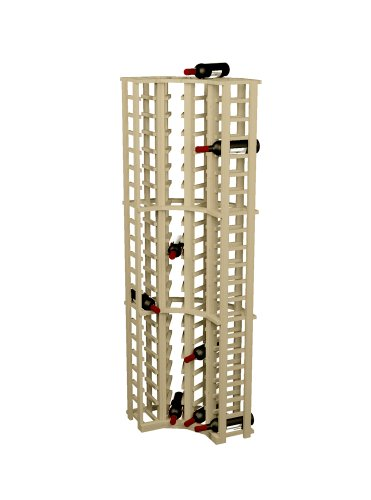- Wine Cellar Innovations Rustic Pine Curved Corner Wine Rack for 84 Wine Bottles, Unstained