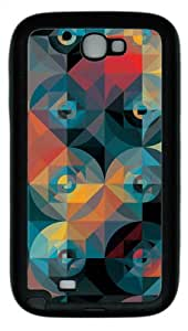 Mosaic 7 TPU Rubber Soft Case Cover For Samsung Galaxy Note 2 / Note II/ N7100 - Black