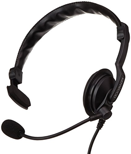 Kenwood KHS7A Light Weight Single Muff Headset with Boom Microphone by Kenwood