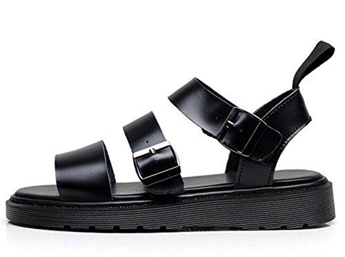 MEILI Martin Sandalen weibliche römische Schnalle Open-Toe Strand Schuhe Plattform black