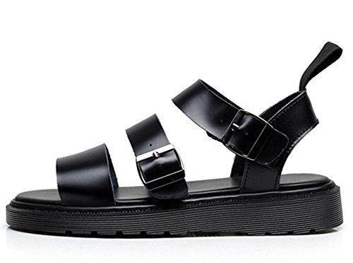 MEILI Sandalias Martin plataforma hebilla romana para zapatos playa abierta black