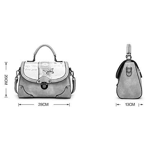 Y & g Gy Petit sac à bandoulière à motif carré simple tendance pour femmes / + * + / (couleur: C, taille 28x13x20cm) C