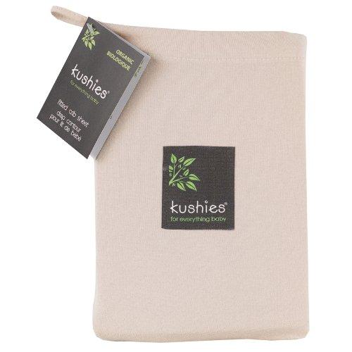 Mocha Organic Cotton (Kushies Organic Jersey Crib Fitted Sheet, Mocha)
