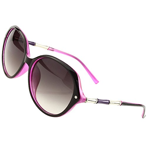 Sumery Retro Vintage Unisex Oval Lens Sunglasses Brand Arm design Sun Glasses Women Men Unisex (Pink, - Coupon Eyeglasses Global