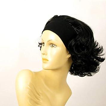 perruque bandeau femme courte bouclée noire