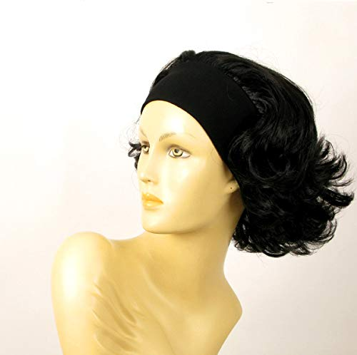 univers perruque Headband Wig Women Short curly Black Ref ANA 1b -