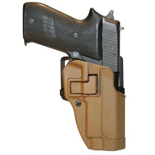 BLACKHAWK! CQC™ Concealment Holster Matte Finish SIG P220/226/225, MK25 w, w/o STD Rails (Not ES), Coyote Tan, Right Hand