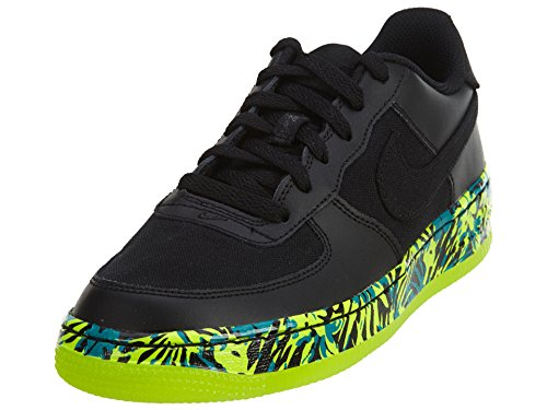 Nike Kids Air Force 1 Premium (gs) Basketbalschoen Zwart / Zwart-volt-rio Groenblauw