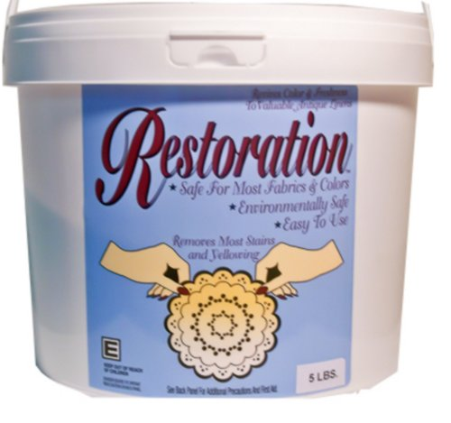 Non Chlorine Bleach Powder (5-LB Pail-Restoration Hypoallergenic Powder To Clean Antique & Delicate Linens Safely.)