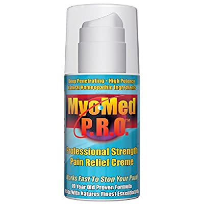 Best Pain Relief Cream & Anti Inflammatory. Professional Strength - No Prescription Required. Gives You Fast Treatment For ALL Muscle & Joint Pain. Great For Pre & Post Workout. By MyoMed PRO 3.5oz.