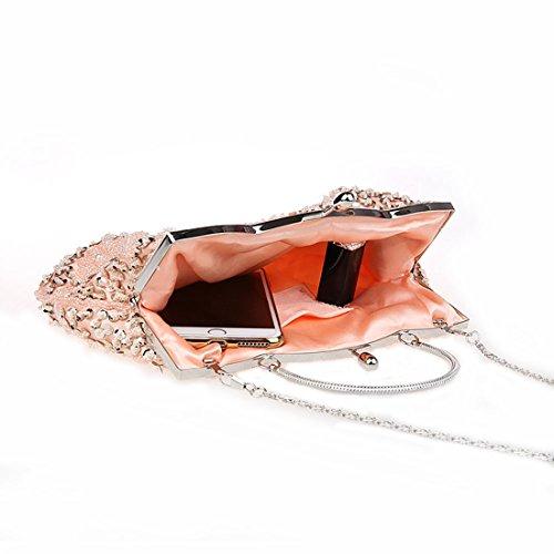 De Bal Événements Élégants De Mariage KAXIDY Noir Pochette Sac Diamants De Soirée Champagne D'Épaule YZxCR6wq