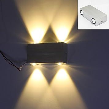 VINGOR LED 4W Modern Wandlampe Flur Wohnzimmer Wandleuchte Innen Design Aluminum Wandleuchten Up Down Leuchten