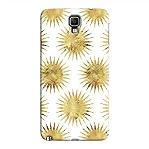Cover It Up - Gold White Star Galaxy Note 3 Neo Hard Case