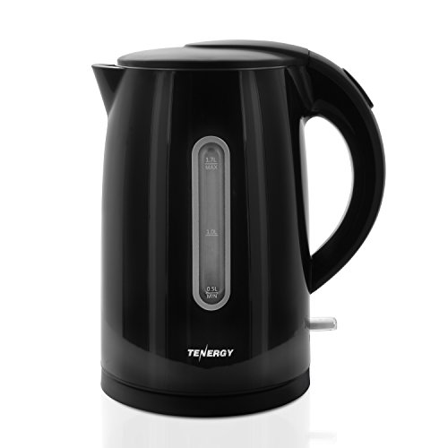 Tenergy Electric Kettle 1.7L Double Wall, Cool Touch Water Kettle, Food Grade 304 Stainless Steel, Cordless Kettle with BPA-Free Gauge Window, Auto Shut-Off, Boil Dry Protection, LED Indicator, 1500W