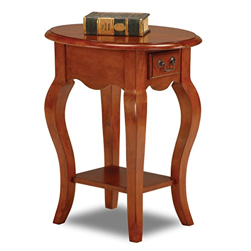 Leick French Oval End Table, Brown - End Country Table Cherry