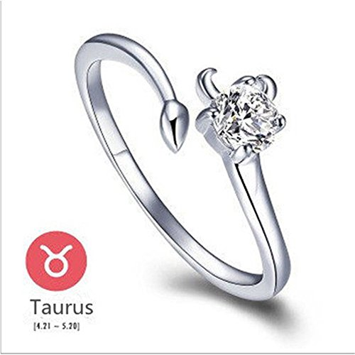 chic-plated-silver-12-constellations-zodiac-sign-opening-adjustable-rings-taurus