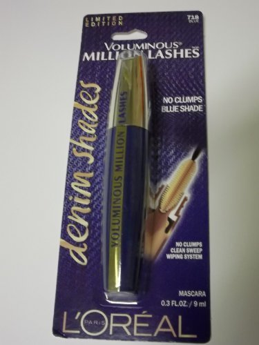 dition Voluminous Million Lashes Denim Shades Mascara - 718 Blue (Dark Blue Mascara)